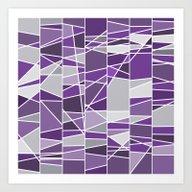 Purple And Grey Art Print