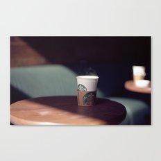 Hot Starbucks Coffee Cup Canvas Print