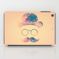 Retro Face with Moustache & Glasses / Universe - Galaxy Hipster iPad Case