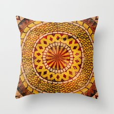 Four Dragons Mandala Throw Pillow