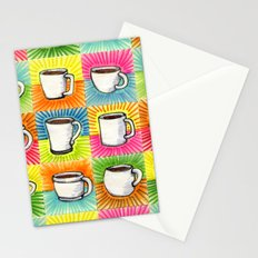 I drew you 9 little mugs of coffee Stationery Cards