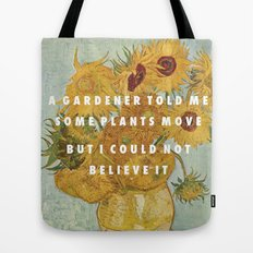 Hunting for Sunflowers Tote Bag