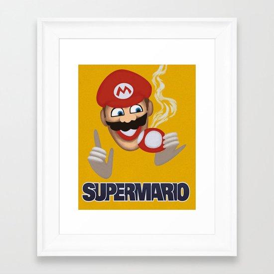 MORVAN SPIRIT - Super Mario Framed Art Print