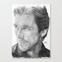Christian Bale Traditional Portrait Print Canvas Print