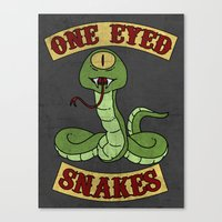 One Eyed Snakes Canvas Print