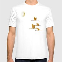 Moon-lit Flight (landsca… Mens Fitted Tee White SMALL