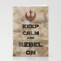 Keep Calm and Rebel On Stationery Cards