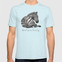 Melancholy Mens Fitted Tee Light Blue SMALL