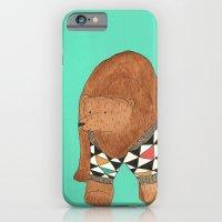 A bear in a sweater iPhone 6 Slim Case