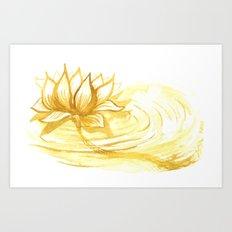 The Golden Lotus Art Print