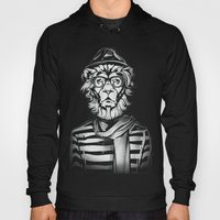 Hipster Lion Black and White Hoody