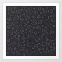 Space Rocks (Patterns Pl… Art Print