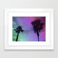 High Palms Framed Art Print