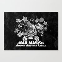 Mad Mario: Beyond Anothe… Canvas Print