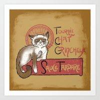 Tournee Du Chat Grincheu… Art Print