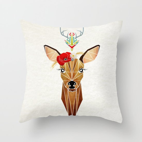 biche oh ma biche ! Throw Pillow