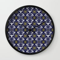 Doves Patterns Wall Clock