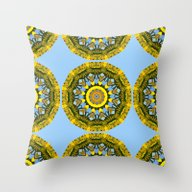 Floral Mandala-style, Su… Throw Pillow