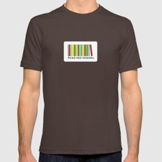 Reading is good Mens Fitted Tee Brown SMALL