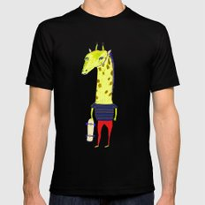 Giraffe Dude. Mens Fitted Tee Black SMALL