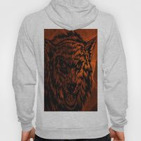 angry wolf fire Hoody