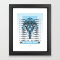 aliephant Framed Art Print