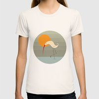 Bird Vertical Womens Fitted Tee Natural SMALL