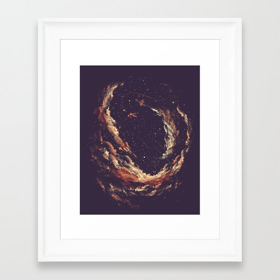 Cosmic Smoke II Framed Art Print