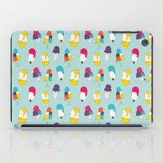 Ice cream pattern - light blue iPad Case