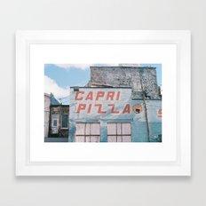 capri pizza sky Framed Art Print