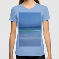 On The Beach Womens Fitted Tee Athletic Blue SMALL
