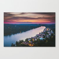 Above the River Canvas Print