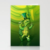 Saint Patrick's Day Green Turtle Stationery Cards