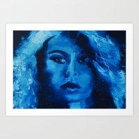THE BLUE QUICK PORTRAIT Art Print