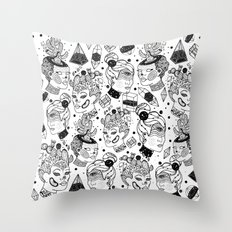 Las Chulas Throw Pillow