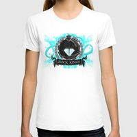ROCK KINGS CREST Womens Fitted Tee White SMALL