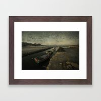 Salt Pan Texture  Framed Art Print