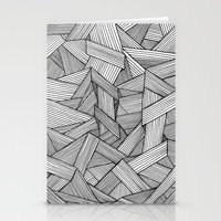 Straight Lines Stationery Cards