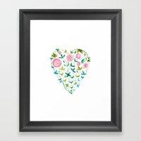 Garden Heart Framed Art Print