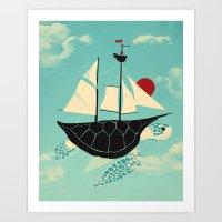 Art Print featuring Adrift by Jay Fleck