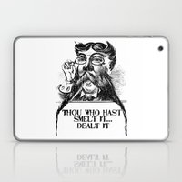 Vintage Thou Who Hast Sm… Laptop & iPad Skin