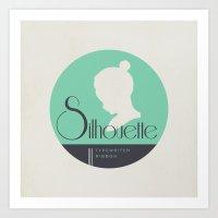 """Vintage Typewriter Tin Lids Series: """"Silhouette"""" Art Print"""