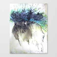 Skull Earth Canvas Print
