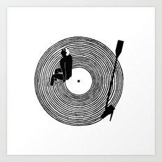 Night and songs Art Print