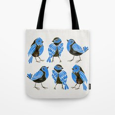 Blue Finches Tote Bag