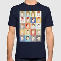 Golden Years Mens Fitted Tee Navy SMALL