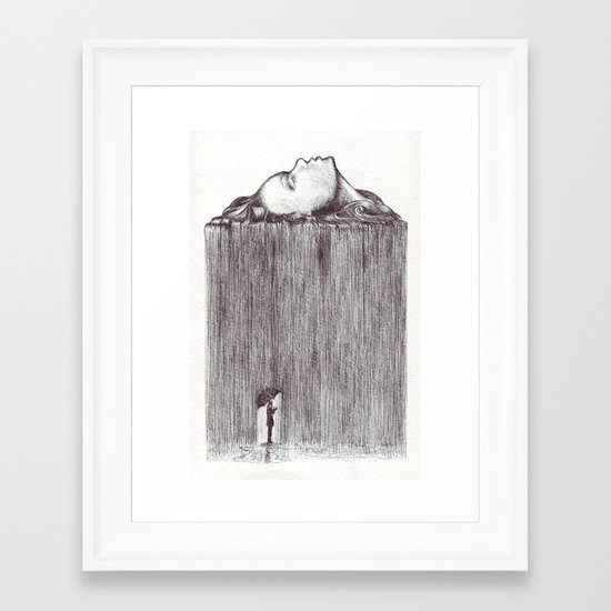 rain Framed Art Print