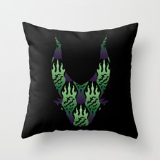 SCORCH pattern ~ Maleficent  Throw Pillow