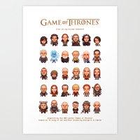 Game Of Thrones :: Pixel… Art Print