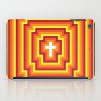 Technicolour Cross - Orange iPad Case